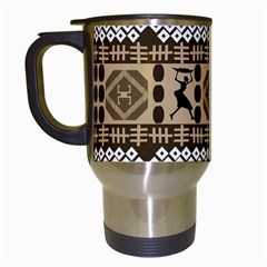 African Vector Patterns Travel Mugs (White)