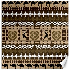 African Vector Patterns Canvas 12  X 12