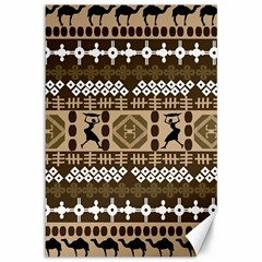 African Vector Patterns Canvas 12  X 18