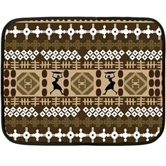 African Vector Patterns Fleece Blanket (mini)