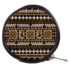African Vector Patterns Mini Makeup Bags
