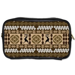 African Vector Patterns Toiletries Bags
