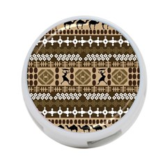 African Vector Patterns 4-Port USB Hub (Two Sides)