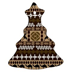 African Vector Patterns Christmas Tree Ornament (two Sides)