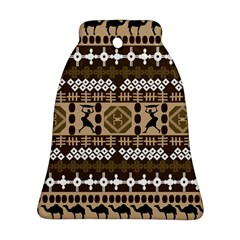 African Vector Patterns Bell Ornament (two Sides)
