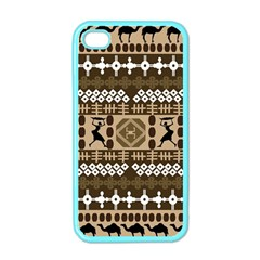 African Vector Patterns Apple Iphone 4 Case (color)