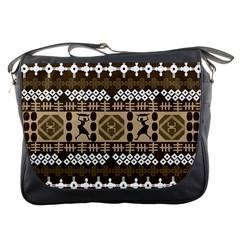 African Vector Patterns Messenger Bags