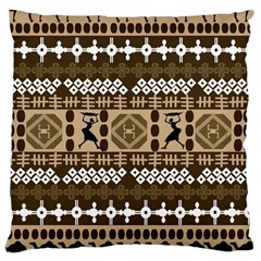 African Vector Patterns Large Cushion Case (two Sides)