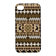 African Vector Patterns Apple Iphone 4/4s Hardshell Case With Stand