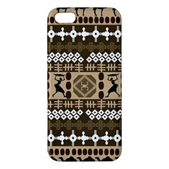 African Vector Patterns Apple Iphone 5 Premium Hardshell Case