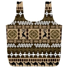 African Vector Patterns Full Print Recycle Bags (l)