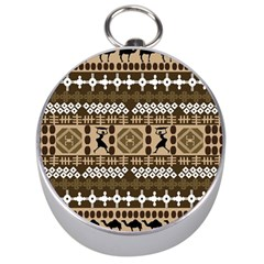 African Vector Patterns Silver Compasses