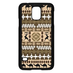 African Vector Patterns Samsung Galaxy S5 Case (Black)