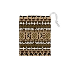 African Vector Patterns Drawstring Pouches (small)