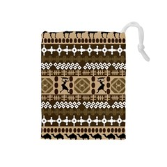 African Vector Patterns Drawstring Pouches (medium)