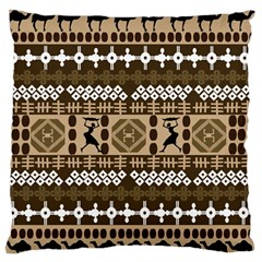 African Vector Patterns Large Flano Cushion Case (Two Sides)