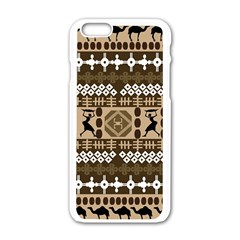 African Vector Patterns Apple Iphone 6/6s White Enamel Case