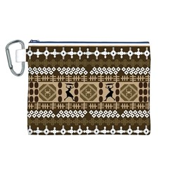 African Vector Patterns Canvas Cosmetic Bag (l)