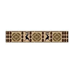 African Vector Patterns Flano Scarf (mini)