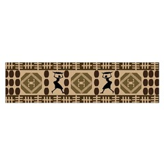 African Vector Patterns Satin Scarf (oblong)