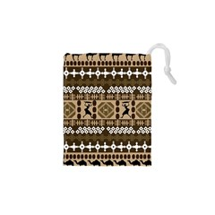 African Vector Patterns Drawstring Pouches (XS)