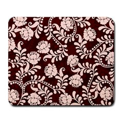 Flower Leaf Pink Brown Floral Large Mousepads
