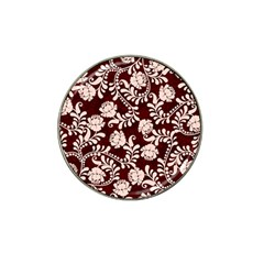 Flower Leaf Pink Brown Floral Hat Clip Ball Marker