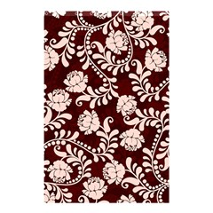 Flower Leaf Pink Brown Floral Shower Curtain 48  x 72  (Small)