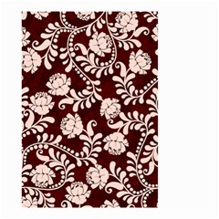 Flower Leaf Pink Brown Floral Small Garden Flag (Two Sides)