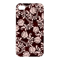 Flower Leaf Pink Brown Floral Apple iPhone 4/4S Premium Hardshell Case