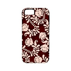 Flower Leaf Pink Brown Floral Apple iPhone 5 Classic Hardshell Case (PC+Silicone)