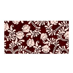 Flower Leaf Pink Brown Floral Satin Wrap