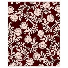 Flower Leaf Pink Brown Floral Drawstring Bag (Small)