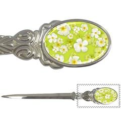 Frangipani Flower Floral White Green Letter Openers