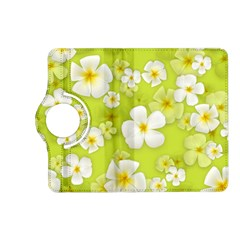 Frangipani Flower Floral White Green Kindle Fire HD (2013) Flip 360 Case