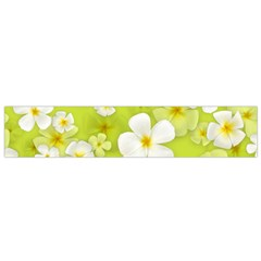 Frangipani Flower Floral White Green Flano Scarf (Small)