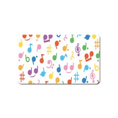 Notes Tone Music Purple Orange Yellow Pink Blue Magnet (name Card)