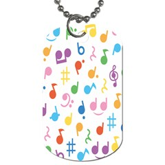 Notes Tone Music Purple Orange Yellow Pink Blue Dog Tag (two Sides)