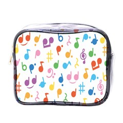 Notes Tone Music Purple Orange Yellow Pink Blue Mini Toiletries Bags
