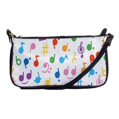 Notes Tone Music Purple Orange Yellow Pink Blue Shoulder Clutch Bags