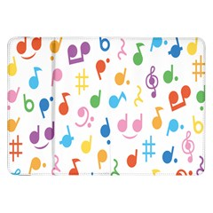 Notes Tone Music Purple Orange Yellow Pink Blue Samsung Galaxy Tab 8.9  P7300 Flip Case