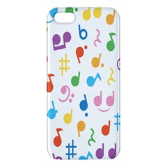 Notes Tone Music Purple Orange Yellow Pink Blue iPhone 5S/ SE Premium Hardshell Case