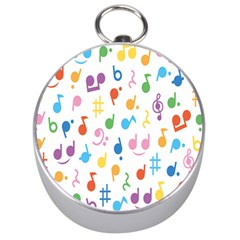 Notes Tone Music Purple Orange Yellow Pink Blue Silver Compasses