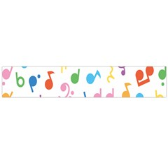 Notes Tone Music Purple Orange Yellow Pink Blue Flano Scarf (Large)