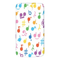 Notes Tone Music Purple Orange Yellow Pink Blue Samsung Galaxy Mega I9200 Hardshell Back Case
