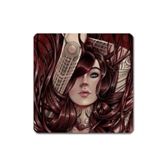 Beautiful Women Fantasy Art Square Magnet