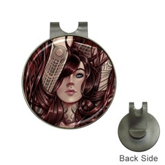 Beautiful Women Fantasy Art Hat Clips With Golf Markers