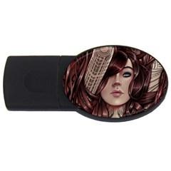 Beautiful Women Fantasy Art Usb Flash Drive Oval (4 Gb)