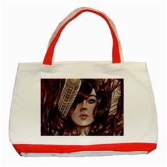Beautiful Women Fantasy Art Classic Tote Bag (Red)