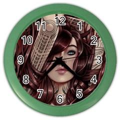 Beautiful Women Fantasy Art Color Wall Clocks